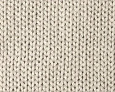 ローゲージの編み物